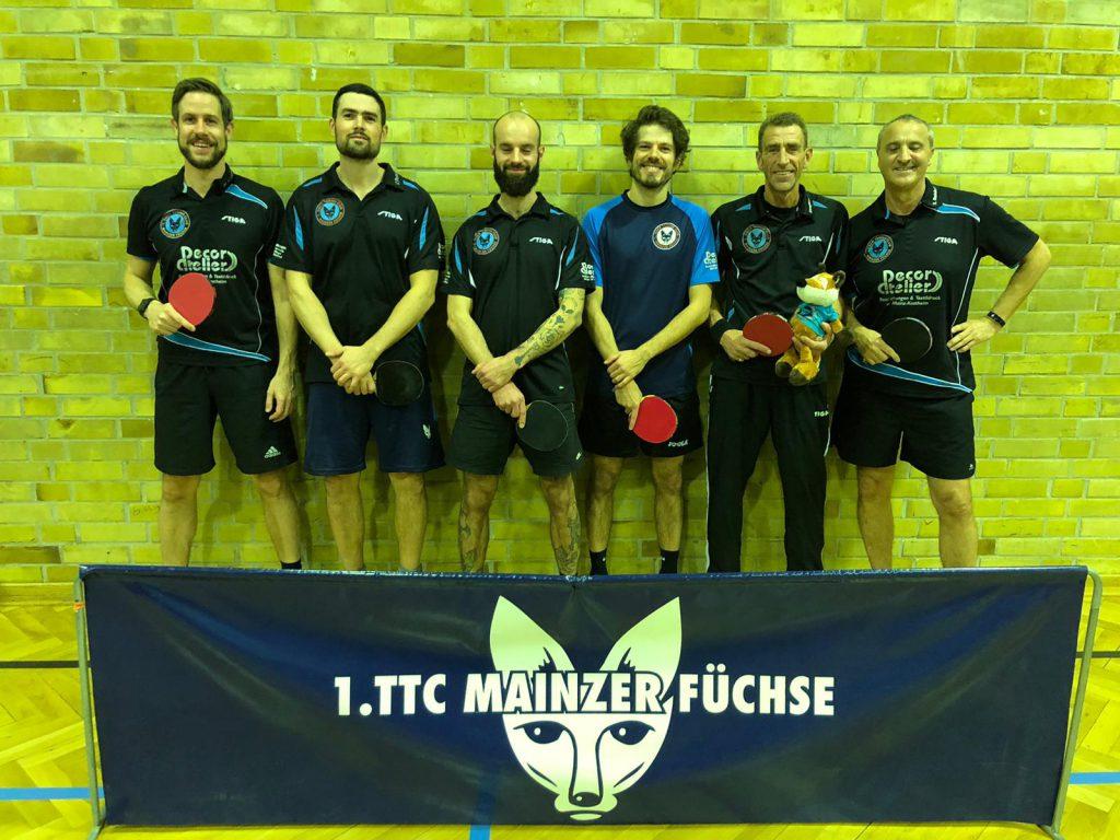 Erste Mannschaft der Mainzer Füchse